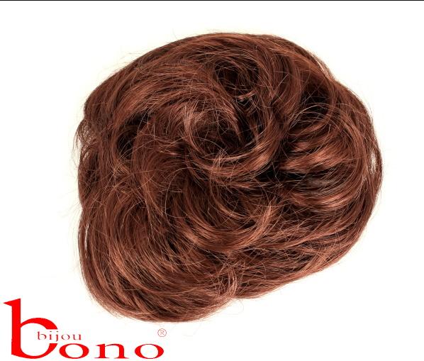 Gumička do vlasů s příčeskem - tm.hnědá 476f185b4f