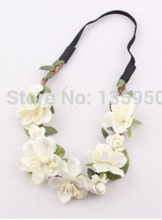d3ebd4f3a Vlasová bižuterie | Čelenka květiny bílá | E-shop s levnou bižuterií